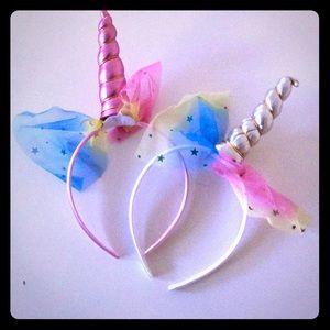 Other - 💋3 for $15 - Set of 2 handmade Unicorn headbands